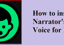 Narrator's Voice for PC Mac and Windows 7/8.1/10 Free Download