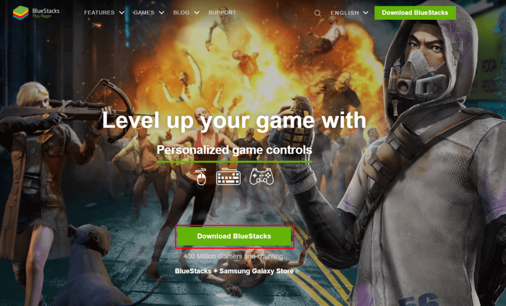 Download BlueStacks to install Armorfly Browser for PC