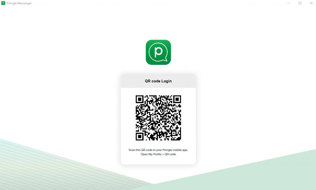 Scan QR code to login Pinngle app
