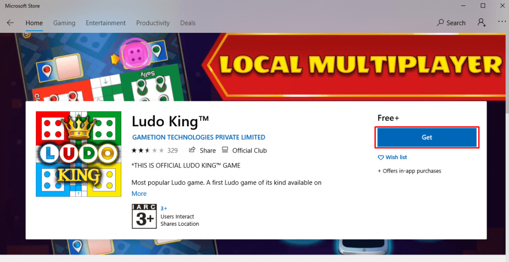 Get Ludo King for PC