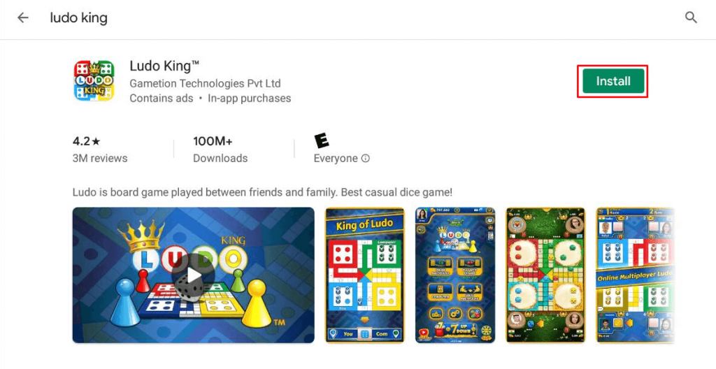 Install Ludo King for PC