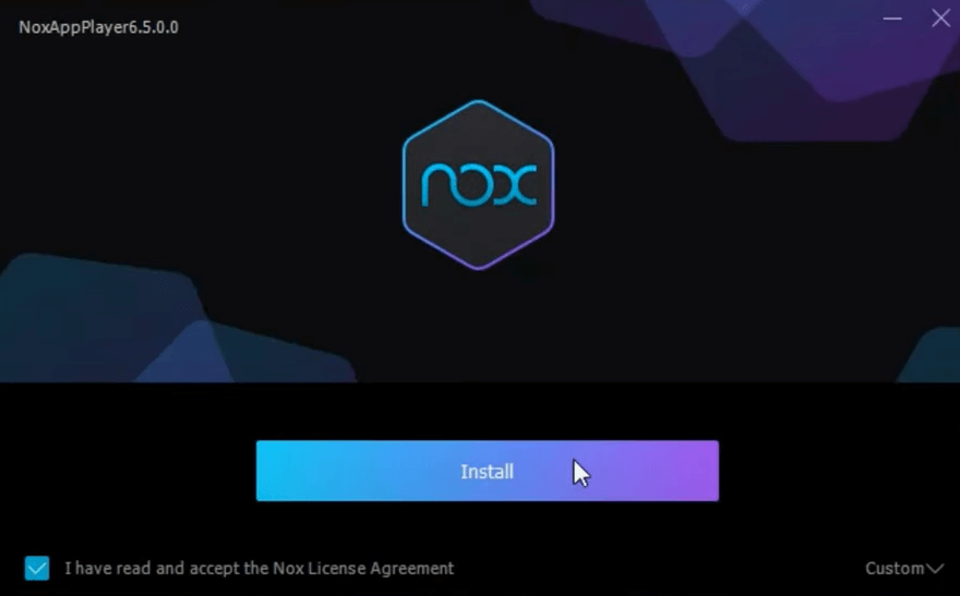 Install Nox Player
