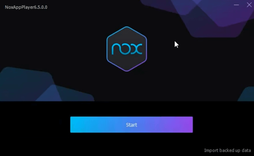 Start the Nox Player on PC