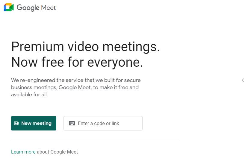 Google Meet on the PC
