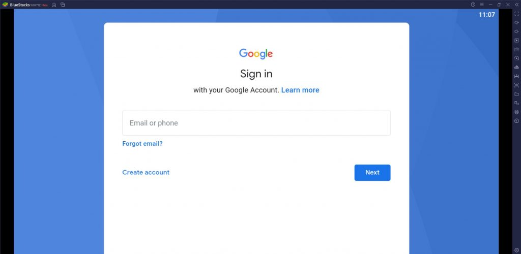 Sign in to your Google account