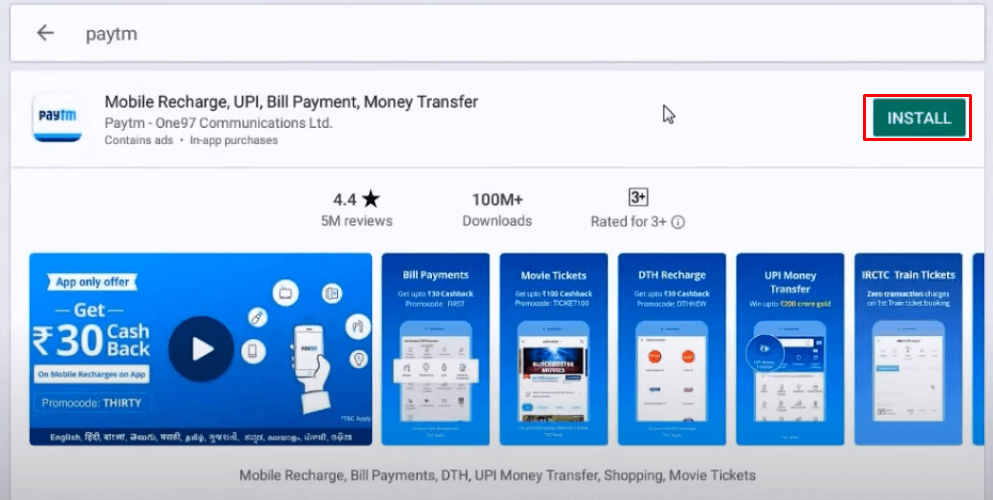 Install Paytm for PC