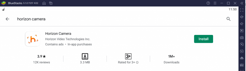 click on Install to install Horizon on PC